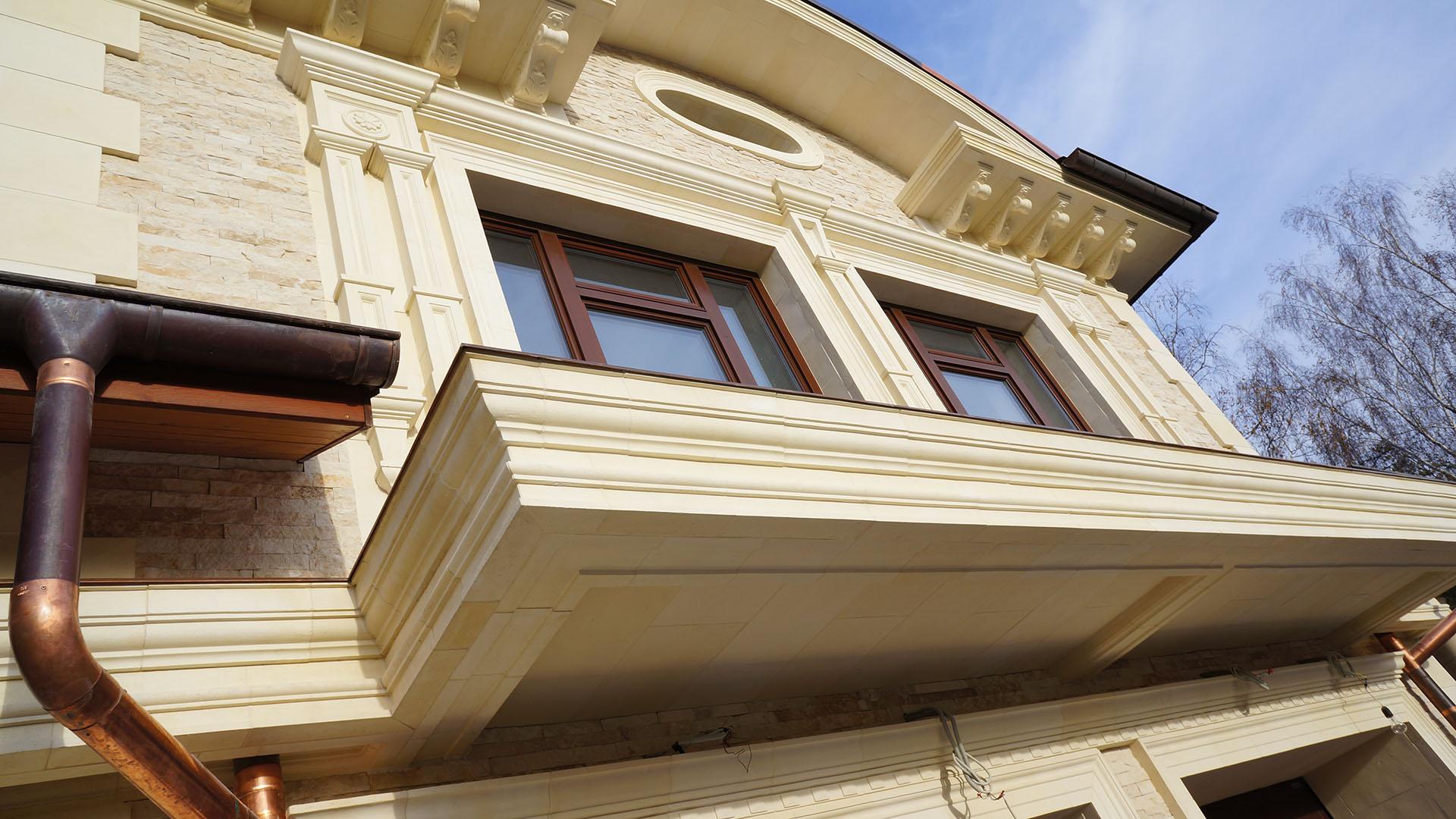 Проектирование и отделка фасада натуральным камнем
