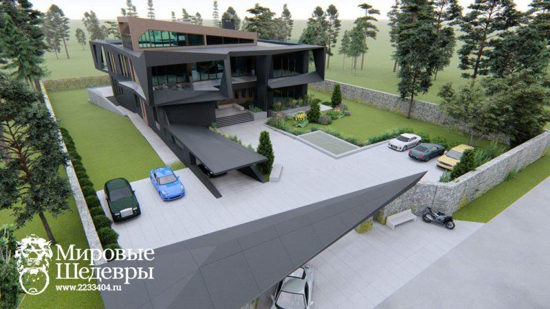 image for загородный дом Технохаус Драгоннест в стиле хайтек